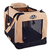 PETMAKER Portable Soft Sided Pet Crate-30 x 20 inches-Khaki