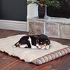 PETMAKER 24x37 inch Roll Up Travel Portable Dog Bed - Coral Stripe