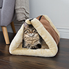 PETMAKER Convertible Plush & Cozy Thermo-Reflective Kitty Hut