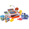 Pretend Cash Register ? Supermarket Playset Toy with Play Money, Credit Card and Food, Barcode Scanner and Microphone for Boys and Girls by Hey! Play!