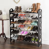 Shoe Rack, Stackable Storage Bench ? Closet, Bathroom, Kitchen, Entry Organizer, 6-Tier Space Saver Shoe Rack by Everyday Home
