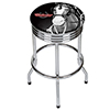 Budweiser Chrome Ribbed Bar Stool - Clydesdale Black