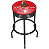 Budweiser Black Ribbed Bar Stool - Clydesdale Red