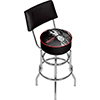 Budweiser Swivel Bar Stool with Back - Clydesdale Black