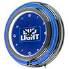 Bud Light 14 Inch Neon Wall Clock - Block Text