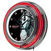 Budweiser Chrome Double Rung Neon Clock - Clydesdale Black
