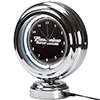 Budweiser Chrome Retro Style Tabletop Neon Clock - Clydesdale Black
