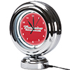 Budweiser Chrome Retro Style Tabletop Neon Clock - Clydesdale Red