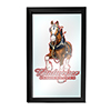 Budweiser Framed Logo Mirror - Clydesdale Red