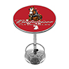 Budweiser Chrome Pub Table - Clydesdale Red