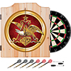 Anheuser Busch A & Eagle Dart Cabinet w/ Darts and Board