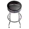 Chrysler Single Ring Ribbed Stool - Chrome