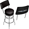 Chrysler Swivel Bar Stool with Back
