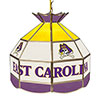 East Carolina University 16 Inch Handmade Stained Glass Lamp