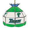 Tulane University 16 Inch Handmade Stained Glass Lamp