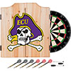 East Carolina University Dart Cabinet Set with Darts and Board