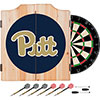 University of Pittsburgh Dart Cabinet with Darts and Board