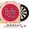 University of Utah Dart Cabinet with Darts and Board