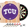 Texas Christian University Dart Cabinet Set with Darts and Board