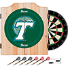 Tulane University Dart Cabinet Set with Darts and Board