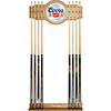 Coors Banquet Original 2 piece Wood and Mirror Wall Cue Rack