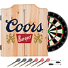 Coors Banquet Dart Cabinet Set with Darts and Board