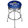 Corona Chrome Ribbed Bar Stool - Griffin