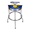 Corona Chrome Ribbed Bar Stool - Label