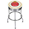Corona Chrome Ribbed Bar Stool - Vintage