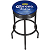 Corona Black Ribbed Bar Stool - Griffin