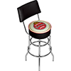 Corona Swivel Bar Stool with Back - Vintage