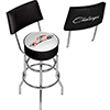 Dodge Bar Swivel Bar Stool with Back - Challenger Stripes