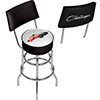 Dodge Bar Swivel Bar Stool with Back - Challenger Stripes 2