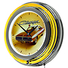 Dodge Chrome Double Rung Neon Clock - 69 Charger