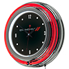 Dodge Chrome Double Rung Neon Clock