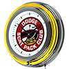 Dodge Chrome Double Rung Neon Clock - Scat Pack