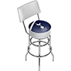 English Premier League Swivel Bar Stool with Back - Tottenham Hotspurs