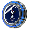 English Premier League Chrome Double Neon Clock - Tottenham Hotspurs