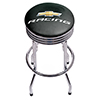 Chevrolet Chrome Ribbed Bar Stool - Chevy Racing
