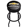 Chevrolet Black Ribbed Bar Stool