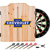 Chevrolet Dart Cabinet Set with Darts and Board - Super Service