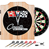 Corvette C2 Black Wood Dart Cabinet Set