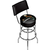Guinness Swivel Bar Stool with Back - Feathering