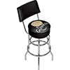 Guinness Swivel Bar Stool with Back - Smiling Pint