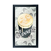 Guinness Framed Mirror Wall Plaque 15 x 26 Inches - Smiling Pint