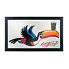 Guinness Framed Mirror Wall Plaque 15 x 26 Inches - Toucan