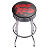 Honda Chrome Ribbed Bar Stool - Ride Red