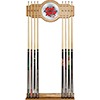 Honda Stained Wood Cue Rack with Mirror - Ride Red