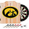 University of Iowa Dart Cabinet - Includes Darts and Board