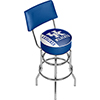 University of Kentucky Swivel Bar Stool with Back - Text